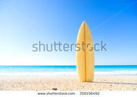 stock-photo-surf-board-in-the-sand-at-the-beach-350156492