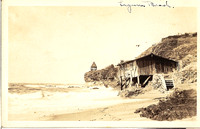 0404 Laguna Beach Fisherman's Cove Hut & Shaw's Cove Gazebo - Tom Pulley Postcard Collection-M